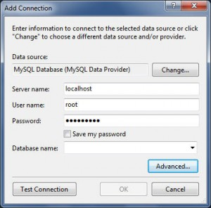 VS2010 MySQL Connection properties