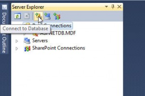 Visual Studio 2010 - Server Explorer window