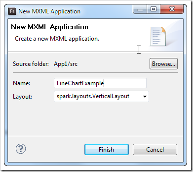 New MXML Application