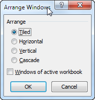 Arrange Windows in Excel 2007 and 2010