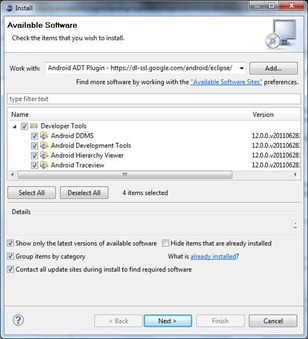 Instalare ADT (Android Development Toolkit) Plugin pentru Eclipse