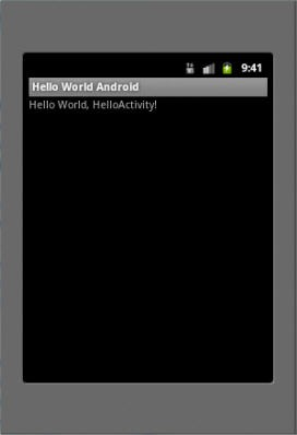Aplicatie Android Hello World in emulator