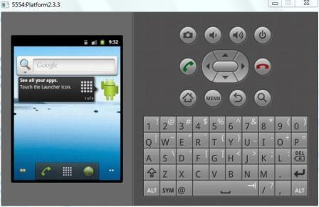 Android Virtual Device pentru Platforma Android 2.3.3