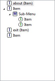 Menu example in Android Menu editor