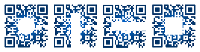 Example of QR code safe areas to be modified
