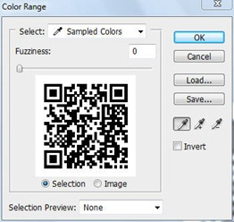 Select QR code white background in Photoshop